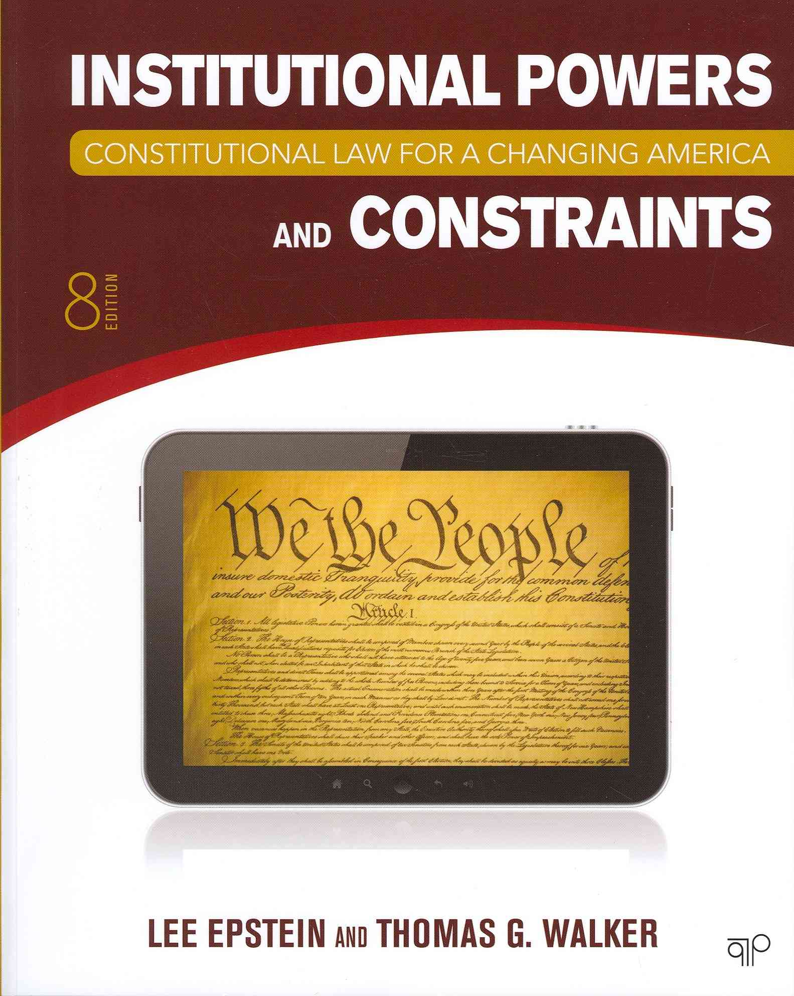Constitutional Law for a Changing America By Epstein, Lee